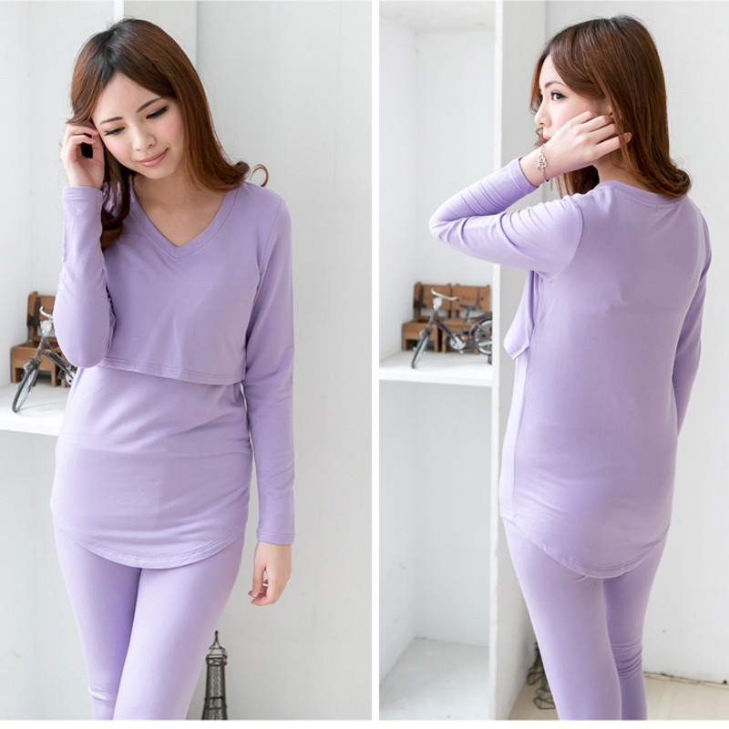 MamaLove Winter Maternity Clothes Maternity Pajamas Nursing Sleepwear Maternity Sleepwear Nursing clothes for Pregnant Women