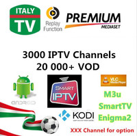 Ipremium Super IPTV Italy UK Turkey Germany Spain Replay Function 3000 Live 20 000 VOD Hotclub
