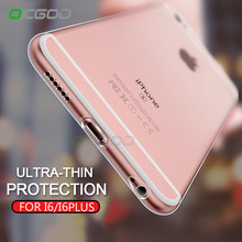 OICGOO Transparent Soft TPU Cover Case For iPhone 6 6 Plus 6s Plus Silicone Full Cover Back Case For iphone 6s plus Phone Cases(China)