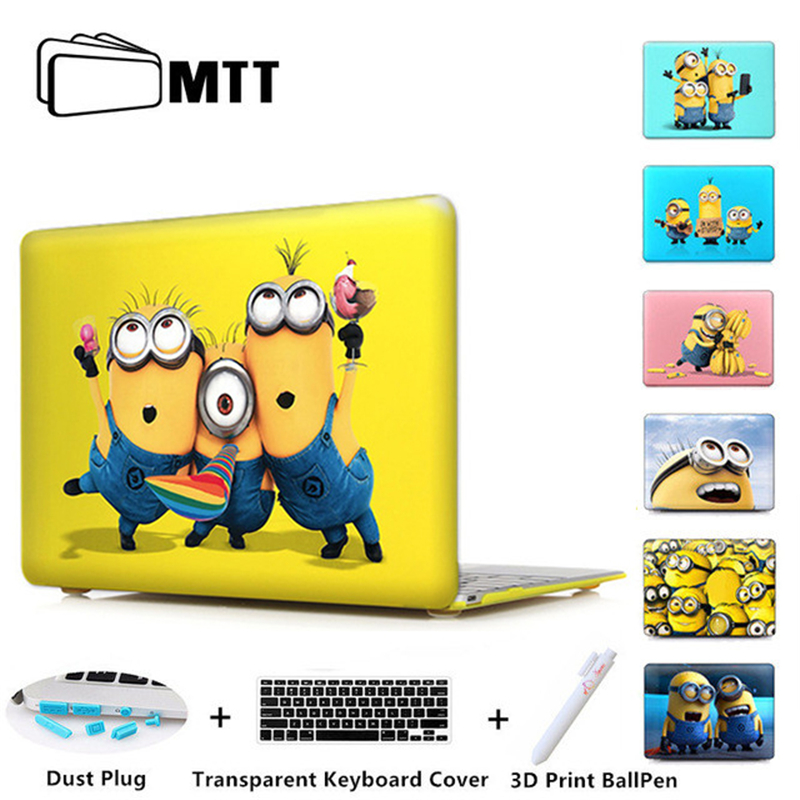 Print Minion Despicable Case For Laptop Cover Apple Macbook Pro 13 15.4 Retina For Mac Book Air 11 13.3 12'' Inch Notebook Case
