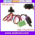 Nuevo Calentador de Ventilador Blower Motor Resistor Regulador utiliza OE NO. 7701207876 para Renault Logan Clio, Kangoo