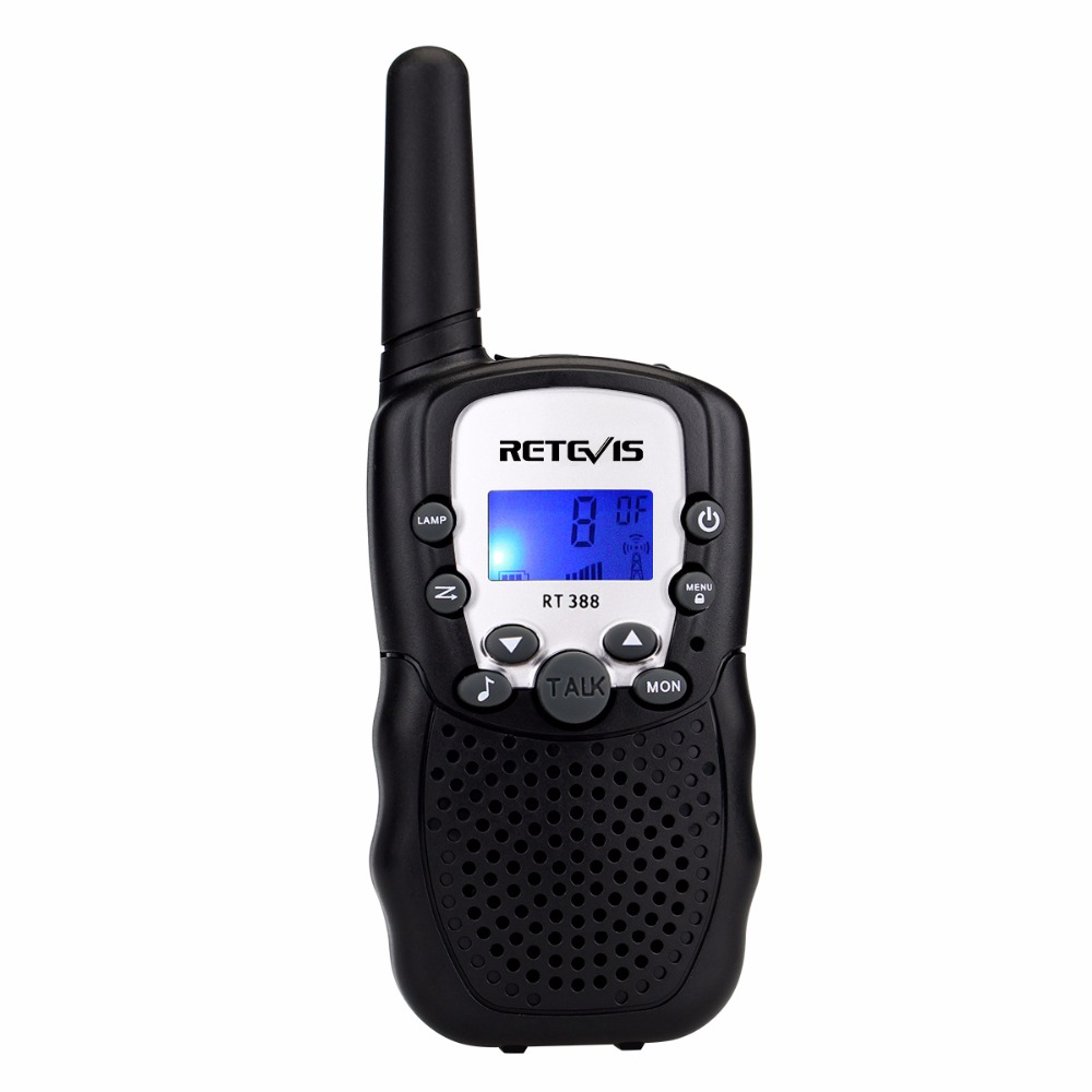 1 pcs Retevis RT388 Mini Walkie Talkie Kids Radio 0.5W 8/22CH VOX Flashlight Handy Hf Transceiver Gift Children Toy Radio J7027