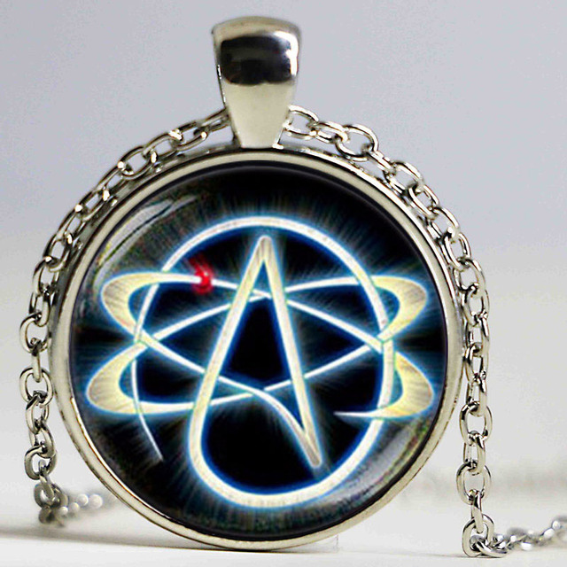 Atheist Symbol Necklace Atom Pendant Atheist Jewelry No Religion