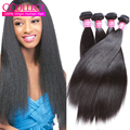 "One Bundle Peerless Peruvian Light Yaki Straight Virgin Hair 8""-30"" Puruvian Kinky Straight Hair Bundles Websites Natural Black"