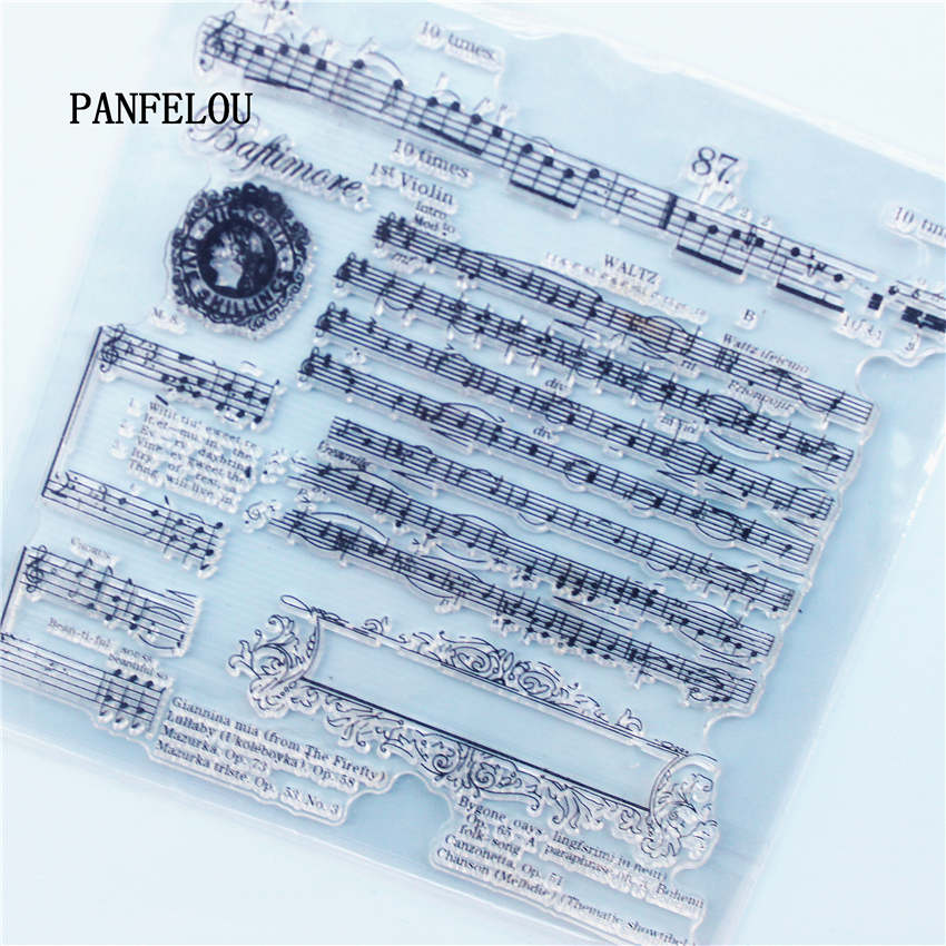 PANFELOU The piano spectrum Transparent Silicone Rubber Clear Stamps cartoon for Scrapbooking/DIY Christmas wedding album the dead piano