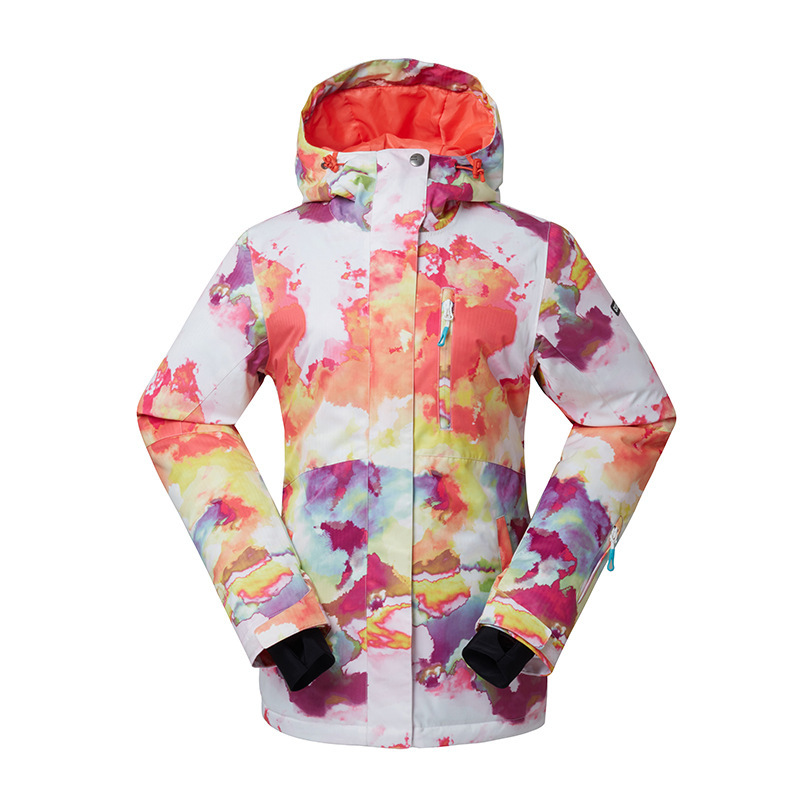 GSOU SNOW Outdoor Womens Ski Suit Windproof Waterproof Wear-resisting Warm Ski Jacket Snow Cotton Clothes Size XS-XLGSOU SNOW Outdoor Womens Ski Suit Windproof Waterproof Wear-resisting Warm Ski Jacket Snow Cotton Clothes Size XS-XL