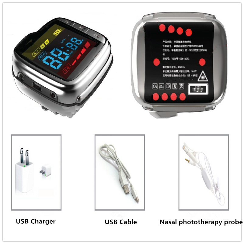 2016 newest non invasive laser treatment cholesterol control LASTEK China wrist Watch old age products healthcare watch high blood sugar physical treatment wrist laser therapy