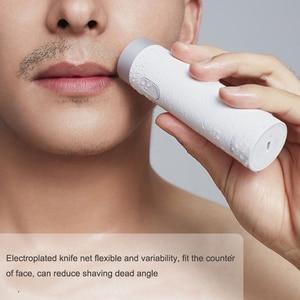 Image 3 - Xiaomi Smate חשמלי לגברים USB נטענת יבש רטוב גילוח מכונת בירד שיער גוזם IPX7 רחיץ אחד להב