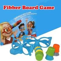 כיף משפחתי שקרן שקרן לוח משחק מצחיק האף & משקפיים למתוח את האמת ואת האף שלך עשויים לגדול כיף חינוכי צעצועי