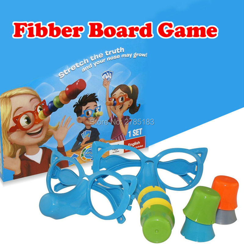 Family Fun Liar Fibber Board Game Hilarious Noses & Glasses Stretch The Truth And Your Nose May Grow educational Fun Toys
