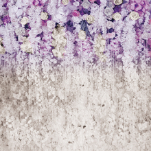 Wedding purple white flower Floral  background Photogrpahy backdrops Photo baby shower Photocall shoot Xt-6708