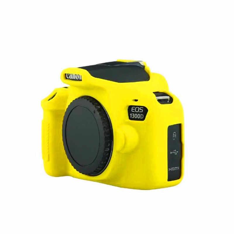 Красочные силиконовые Камера чехол для цифровой однообъективной зеркальной камеры Canon EOS 1300D/2000D/1500D/EOS Rebel T6/Kiss X80 резиновые Камера кожного покрова SLR Камера сумка