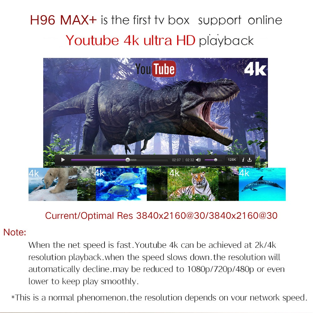 H96 MAX Plus caja de TV inteligente Android 8,1 TVBox 4 GB de Ram 32 GB/64 GB Rom Rockchip RK3328 4 K H.265 USB3.0 2,4 Ghz WiFi IP TV Set Top Box - 5