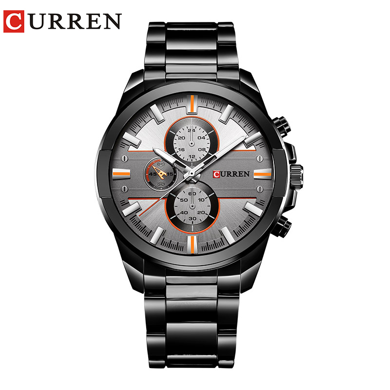 New <font><b>Curren</b></font> Luxury Brand Watches Men Quartz Fashion Casual Male Sports Watch Full Steel Military Watches Relogio Masculino image
