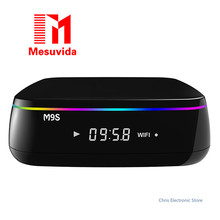 Mesuvida M9S MIX Caja de la TV Amlogic S912 Octa Core Android 6.0 2.4G 5G de Banda Dual WiFi Bluetooth 4.0 2G RAM 16G ROM set-up cajas