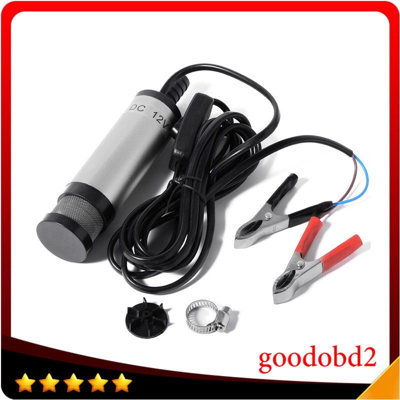 12V DC Diesel Water Oil Fuel Transfer Pump Car Truck Camping Submersible Transfer Pump Professional Electric