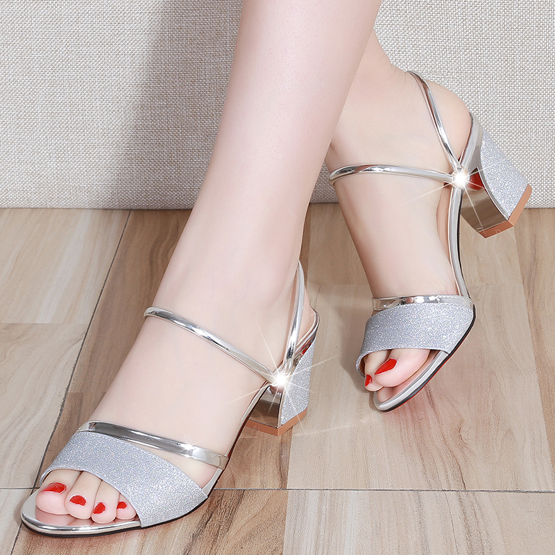 Women Sandals Gold Sliver High Heels Bling Women Shoes Open Toe Wedding Shoes Woman Sandalie Ladies Shoes Slippers Zapatos MujerWomen Sandals Gold Sliver High Heels Bling Women Shoes Open Toe Wedding Shoes Woman Sandalie Ladies Shoes Slippers Zapatos Mujer