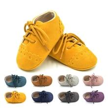 Недавно прекрасный Повседневное мода одежда для малышей Обувь для девочек Обувь для мальчиков Обувь мягкая подошва Обувь для младенцев одноцветное с перекрестной шнуровкой туфли на шнуровке наряд Весна-осень
