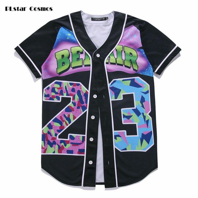PLstar Cosmos Men 23 Landscape Floral Print Beach T shirts 3d tee shirt 3D Baseball Shirt t shirt Brand Contrast black tops