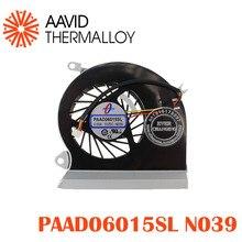 Вентилятор охлаждения процессора подходит для MSI GE70 серии ноутбука PAAD0615SL 3pin 0.55A 5VDC N039 N285