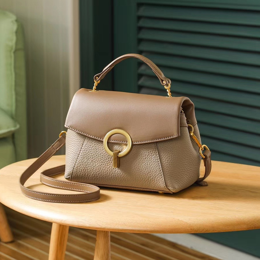 2019 Spring Real Genuine Leather Handbag Handbags Woman Small Vintage Crossbody Bags For Women Shoulder Messenger