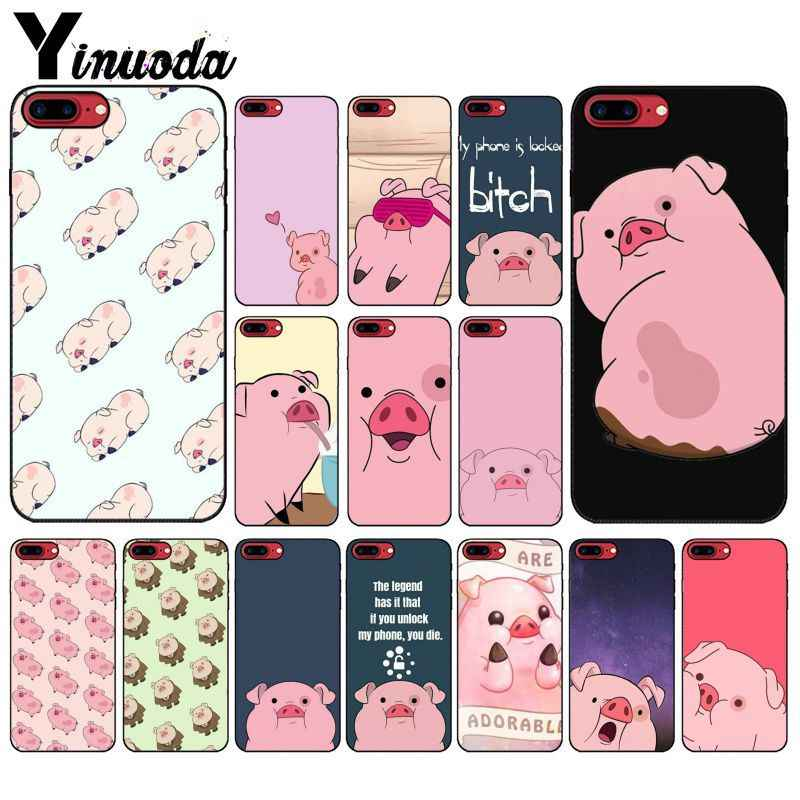 Yinuoda Cartoon Anime Gravity Falls pig  Custom Photo Soft Phone Case for iPhone X XS MAX 6 6S 7 7plus 8 8Plus 5 5S XR