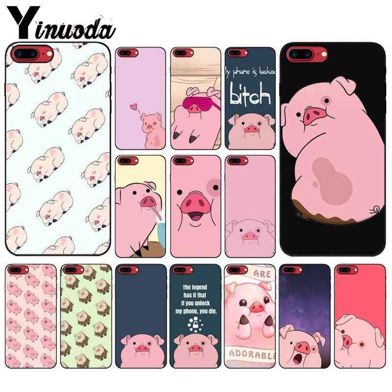Yinuoda Cartoon Anime Gravity Falls pig  Custom Photo Soft Phone Case for iPhone X XS MAX 6 6S 7 7plus 8 8Plus 5 5S XR