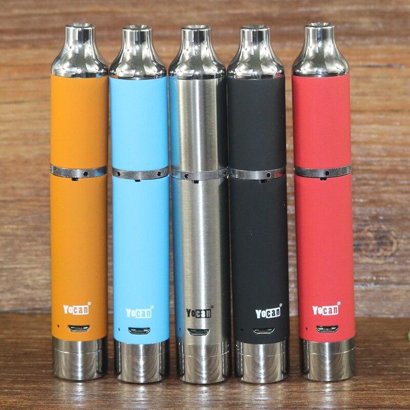 100% оригинал Yocan развиваться плюс starter kit 1100 мАч испаритель VAPE ручка кварцевые двойной катушкой Встроенная батарея электронный cigarrate ...