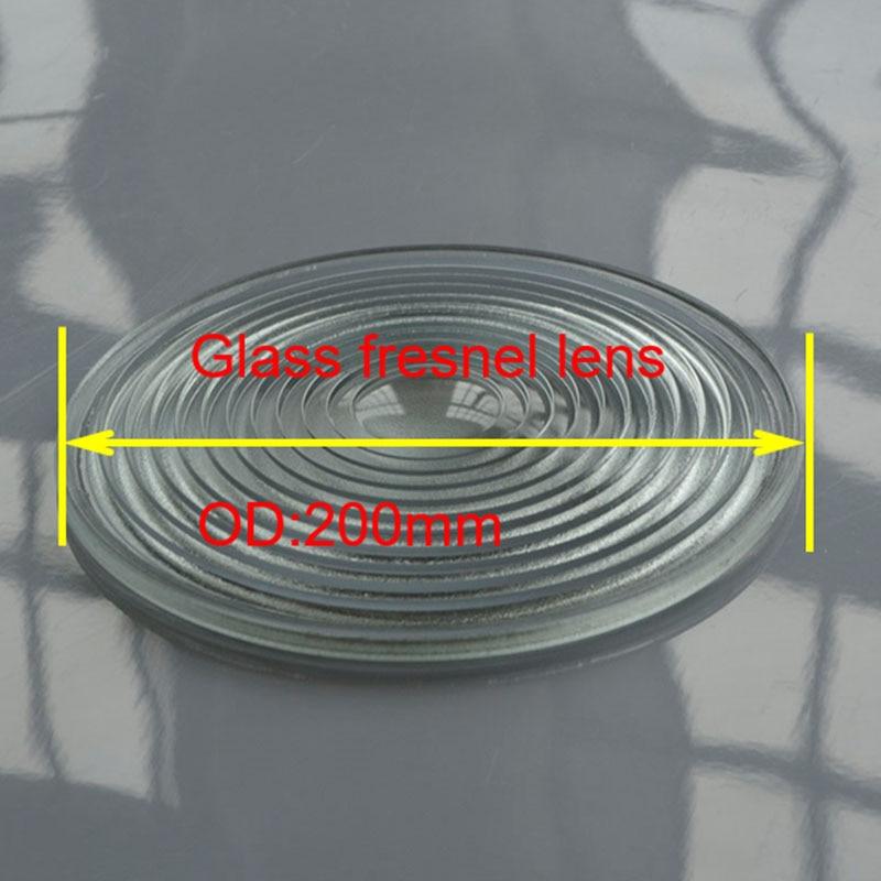Diameter 200mm plano convex glass fresnel lens for lamp and LED stage light borosilicate material fresnel lens осветитель logocam fresnel 150