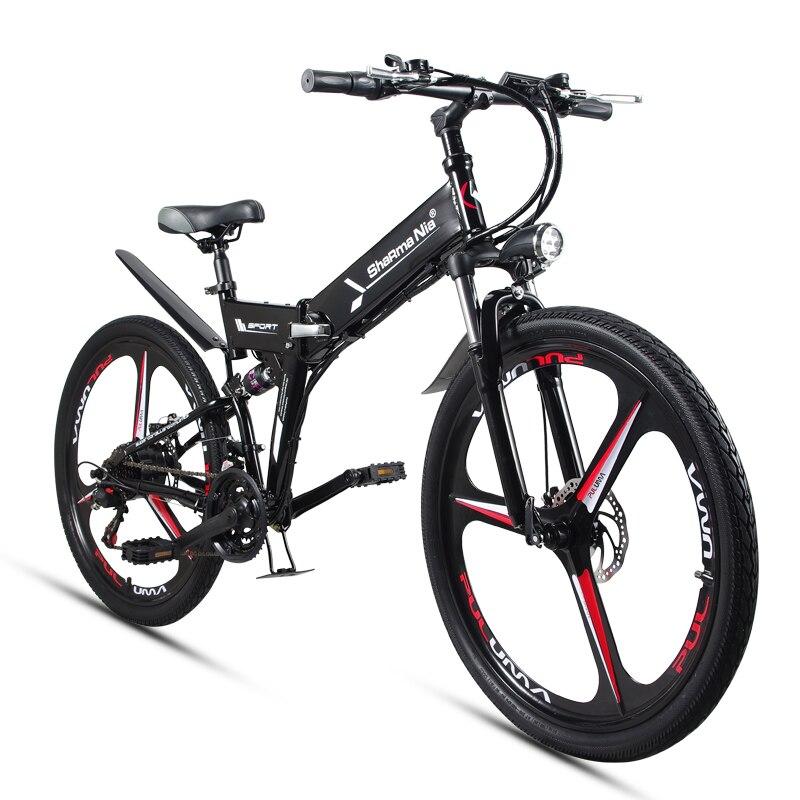 26 pouces vélo pliant de montagne électrique 48 V 350 W haute vitesse ebike Amovible au lithium batterie Voyage assistée électrique vélo