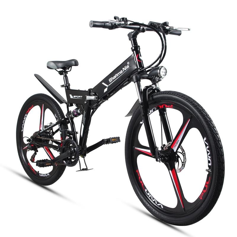 Bicicleta eléctrica plegable de montaña de 26 pulgadas 48 V 350 W de alta velocidad ebike batería de litio extraíble de viaje asistida bicicleta eléctrica