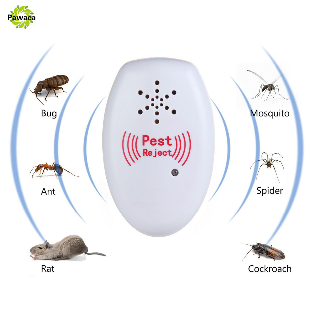1pcs Mosquito Killer Electronic Repeller Reject Rat Ultrasonic Insect Repellent Mouse Anti Rodent Bug Reject with EU/US Plug