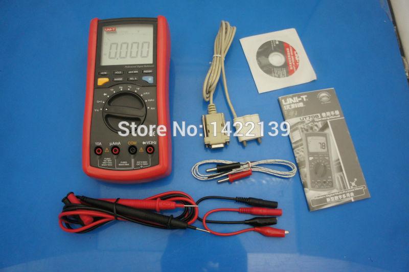 UNI-T UT70B LCD Portable Intelligent Digital Multimeter Volt Amp Ohm Temp Capacitance Tester