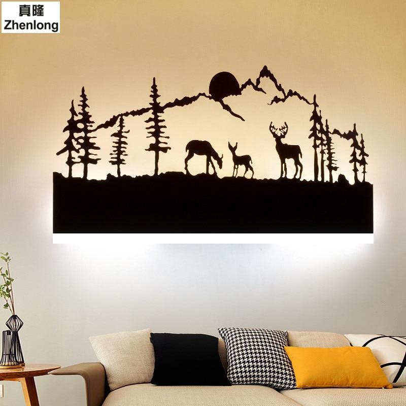 Schwarz Acryl Kreative Moderne Led Wandleuchte Für Wohnzimmer neben ...