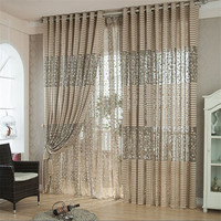 Ouneed Leaf Tulle Windows Curtains Drape Panel Scarf Home Decor Decorative Curtains 30
