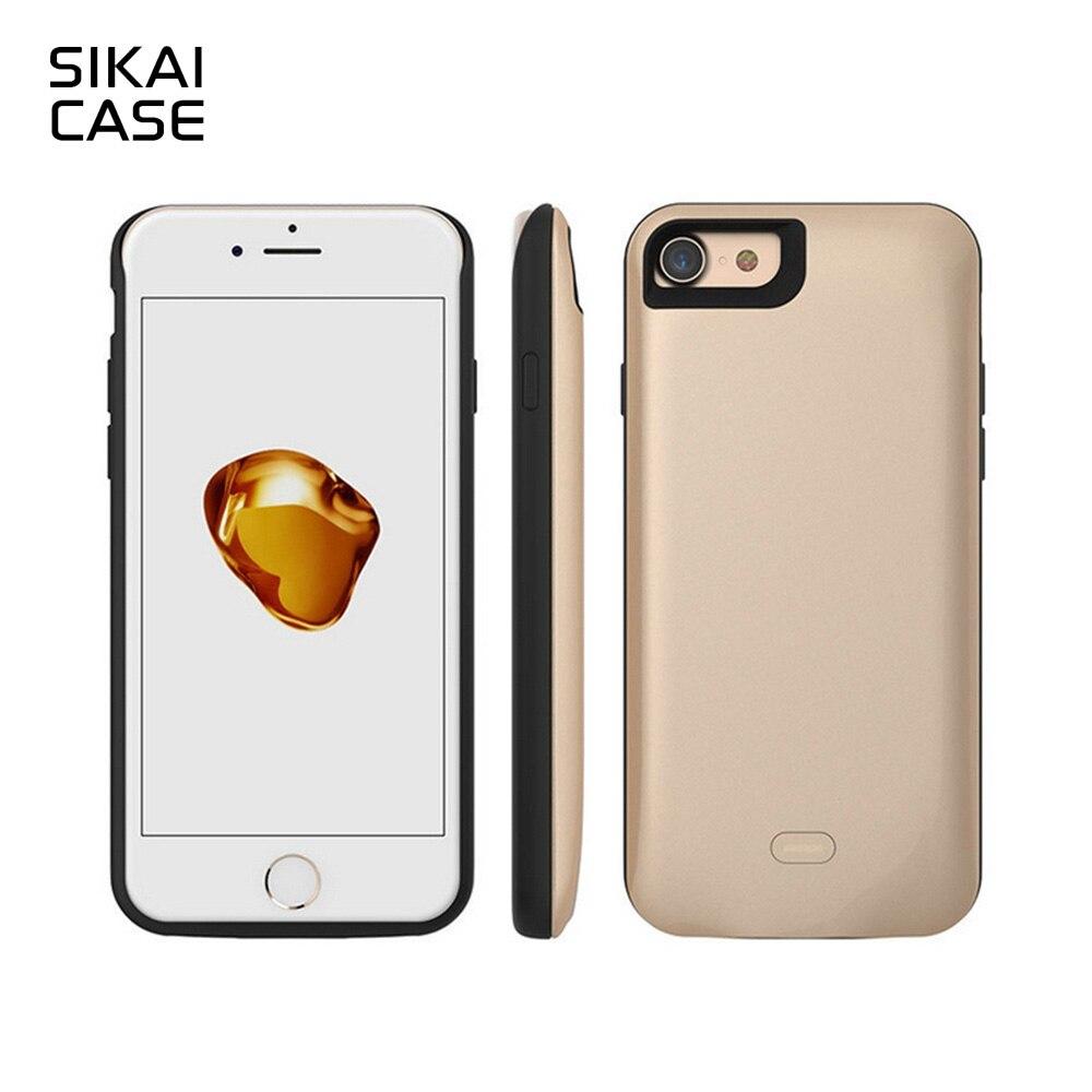 Цена за Sikai 5200 мАч внешний Перезаряжаемые Батарея Зарядное устройство чехол для iPhone 7 Мощность Bank 7500 мАч для iPhone 7 Plus Мощность Bank Дело