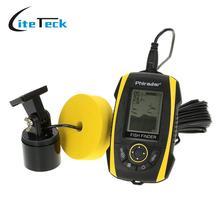 Portable Fish Finder LCD Display Sonar Sensor Transducer Fishfinder Fish Alarm Depth Indicator Fishing Finder Fishing Bait Tool