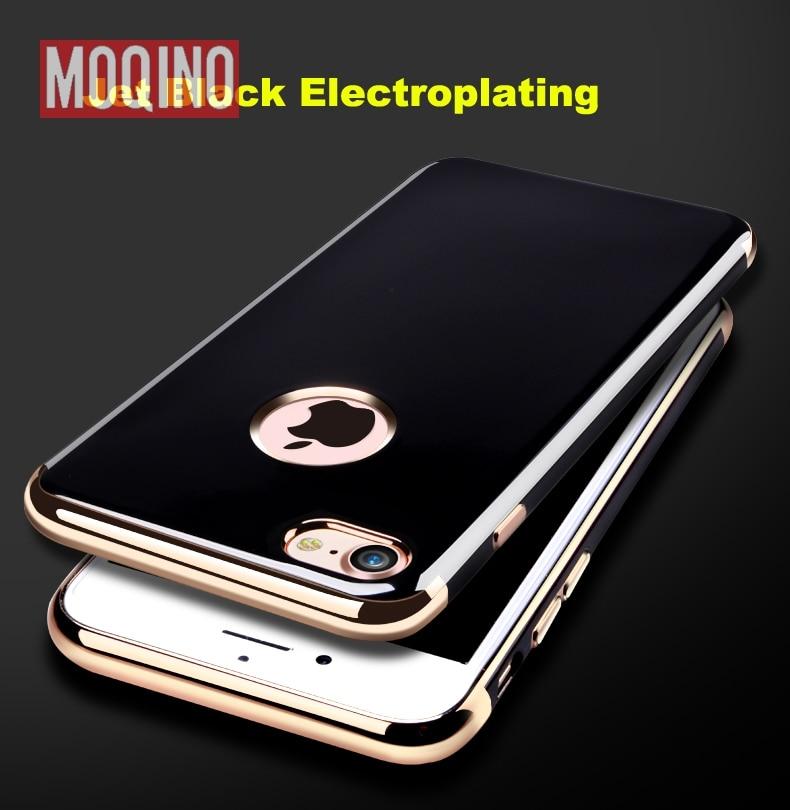 Jet Black Soft för iPhone 6 6s 7 8 6 Plus 7 Plus 8Plus Silikon Ljus - Reservdelar och tillbehör för mobiltelefoner