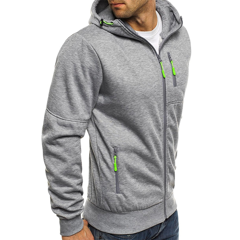 Hoodies Casual Sports Design Spring and Autumn Winter Long-sleeved Cardigan Hooded Men's Hoodie 8