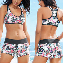 Women Printing Bandage Bikini Set Push-Up Brazilian Swimwear Beachwear Swimsuit