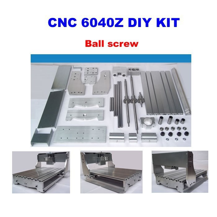 CNC 6040 Router Frame kit  CNC 6040Z milling machine DIY rack with bed, ball screw, optical axis, spindle clamp eur free tax cnc 6040z frame of engraving and milling machine for diy cnc router
