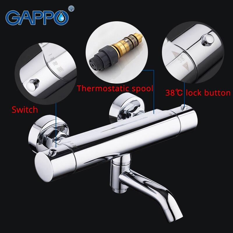 GAPPO смеситель для душа смеситель для ванны с термостатом водопад Термостатический смеситель для душа настенный смеситель для ванной посуда...