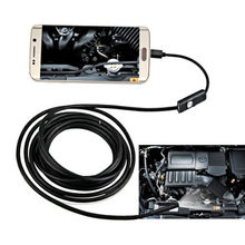 7mm Lens 1/1.5/2m cable Android Endoscope Camera Waterproof Inspection Camera Borescope 6 Leds light PC USB Endoskop Camera(China)