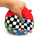 1 Pc Baby Children Cotton Cloth Hand Grasp Toys Colorful Ring Bell Ball Rattle Kids Early Educational Develop Music Sense Gifts