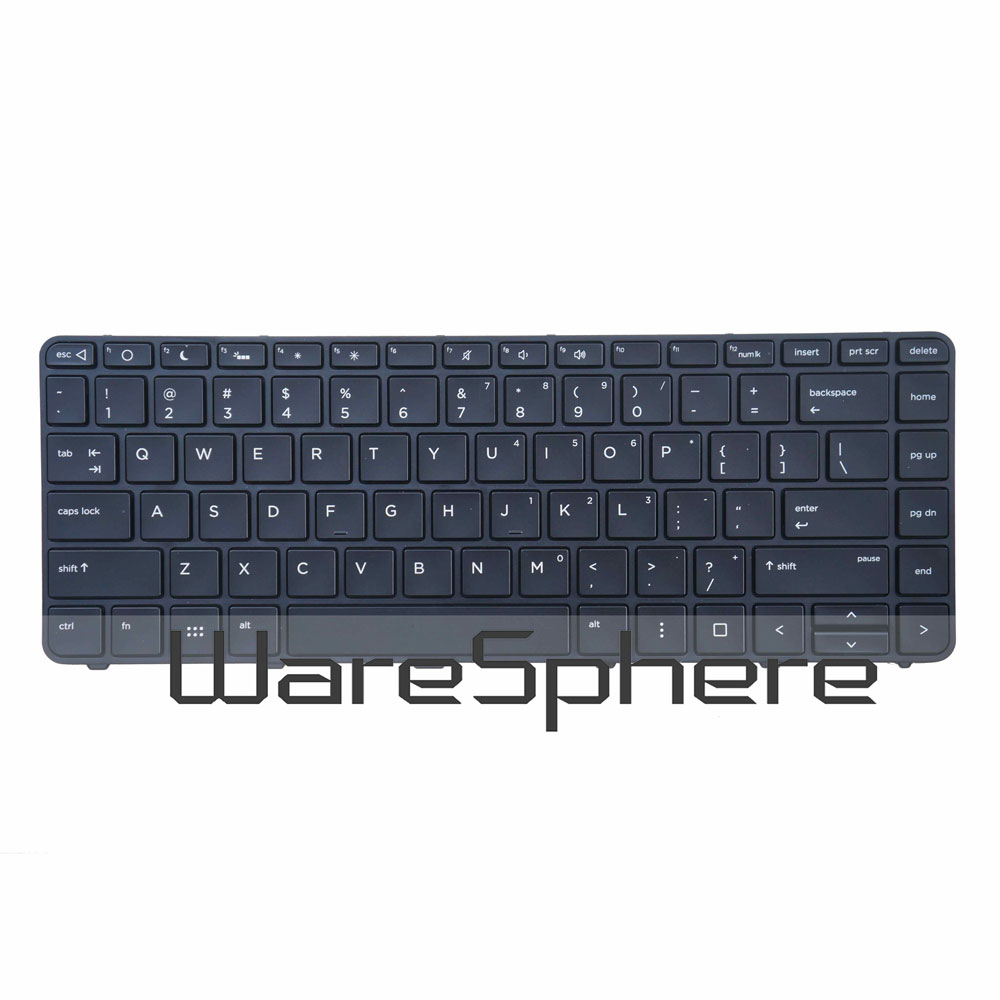 New Original US Backlit <font><b>Keyboard</b></font> for <font><b>HP</b></font> Probook <font><b>430</b></font> G3 <font><b>430</b></font> G4 440 G3 G4 445 G3 Laptop Backlight <font><b>Keyboard</b></font> 935425-001 Black image