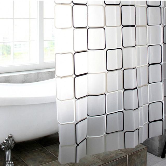 LumiParty 3D Plaid Waterproof Bathroom Shower Curtains WaterProof ...