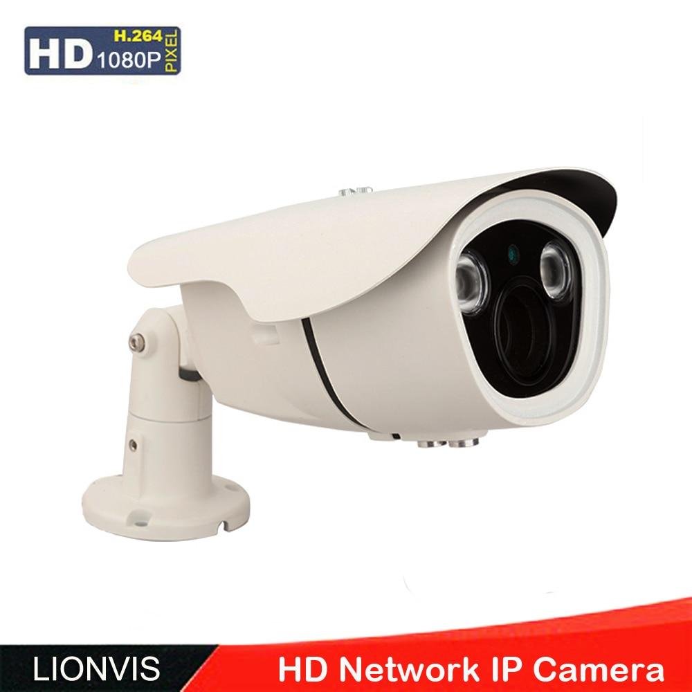 ФОТО IP Camera 1080P ONVIF CCTV Security Camera  Array IR  Led Night Vision Metal Housing IP66 Indoor Outdoor POE Network  Camera