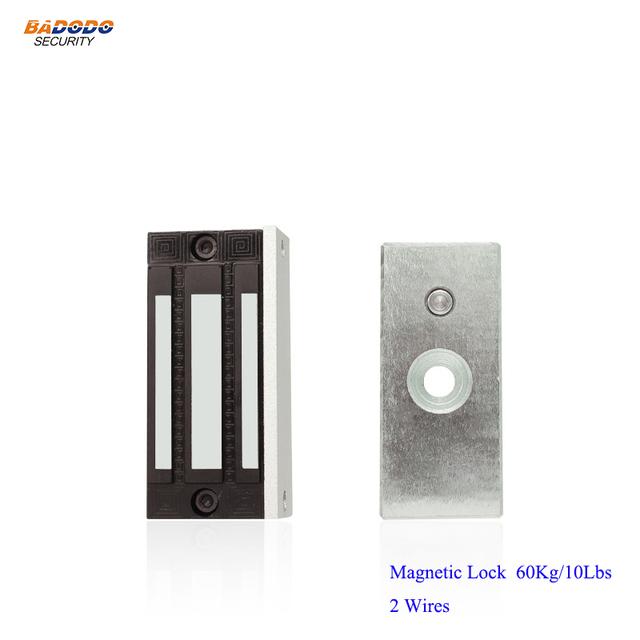 Single door electronic electromagnetic magnetic lock 60Kg/100Lbs magnetic lock locker for access control showcase cabinet door