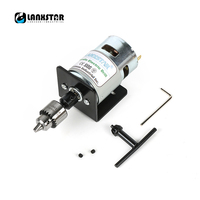 LANXSTAR DC 24V 10000rpm 775 Motor Double Ball Bearings Mini PCB Hand Drill Press Drill Chuck