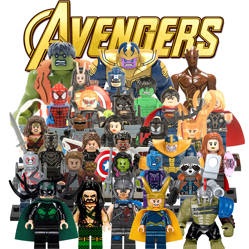 Building Blocks Super Heroes lEGOED Marvel Avengers Infinity War Thanos Hulk Iron Man Spiderman kids toys for children single sale super heroes doctor strange iron man captain america spiderman bricks building blocks children gift toys xh 825